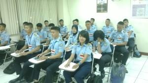 Siswa Siswi TKJ sedang sosialisasi Prakerin di Garuda Line Maintenance